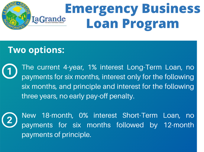 City of La Grande Emergency Business Loan Program Accepting Applications